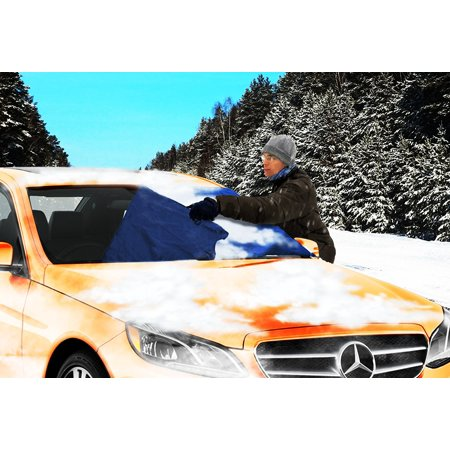 Zone Tech Winter Windshield Car Protector Blue Snow Sleet Ice Cover Self Included Mesh Storage Bag - Harley Windshield Bag