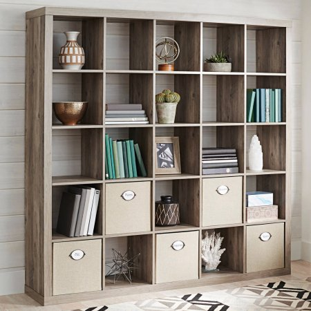 Better Homes And Gardens 25 Cube Organizer Room Divider Rustic Gray