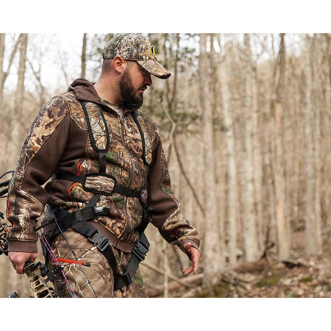 Hunter Safety Systems Camo Hunting X 1 Bowhunter Tree Stand Harness Large Xl