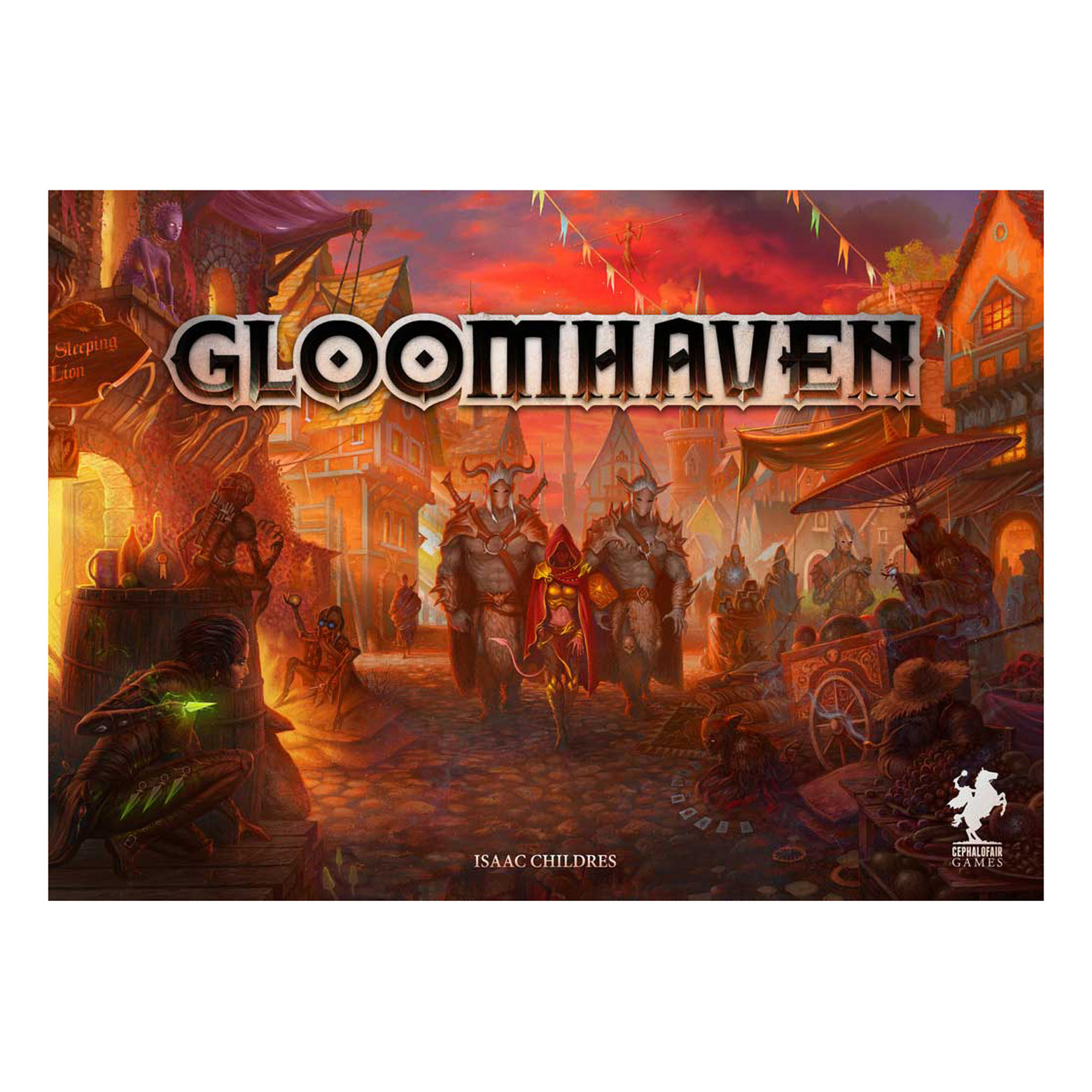 GLOOMHAVEN BOARD GAME BRAND NEW FACTORY SEALED Cephalofair Games w// sticker set