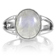 Emitations Sterling Silver Moonstone Ring