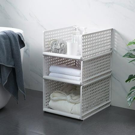 "1PC Foldable Stackable Drawer Type Storage Basket for Bedroom Wardrobe Closet Organize Size:15.3""x11.7""x6.7"" - image 7 de 8"