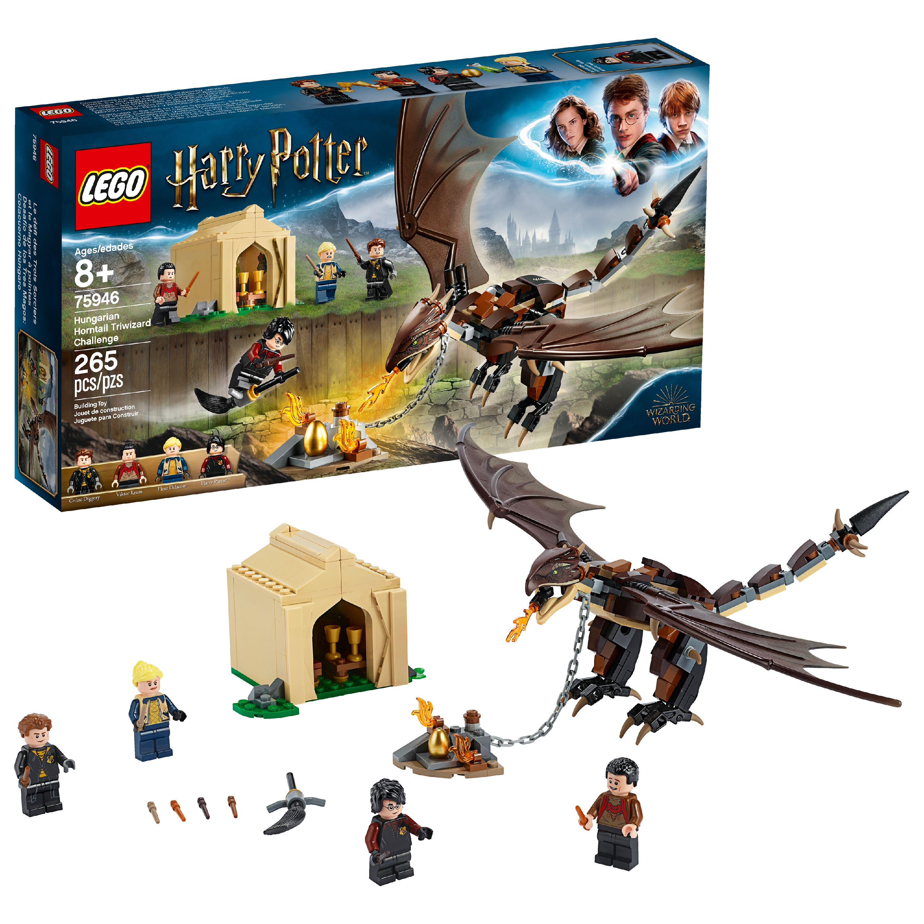 LEGO Harry Potter Hungarian Horntail Triwizard Challenge 75946 (265 Pieces)