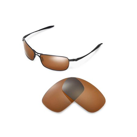 6da9c02d29 Walleva Brown Polarized Replacement Lenses for Oakley Crosshair 2.0  Sunglasses