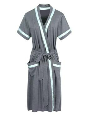 Richie House Women's Short Sleeve Cotton Bathrobe Robe RHW2753