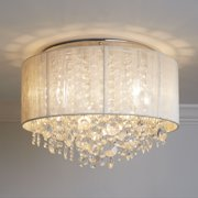 Serena String Beaded Flush Mount Ceiling Light Flush Mount Fluorescent Lighting