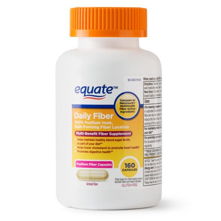 Equate Daily Fiber Capsules, 160