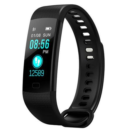 Y5 IP67 Waterproof Fitness Tracker, Smart Watch Heart Rate Monitor Smart Watch Bracelet for Android (Best Walking Tracker App For Iphone)