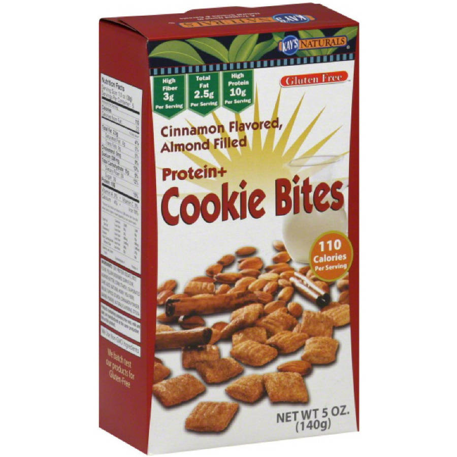 Kay's Naturals Cinnamon Flavored, Almond Filled Protein+ Cookie Bites, 5 oz, (Pack of 3)