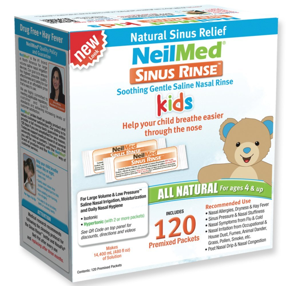 's Sinus Rinse Pre-Mixed Pediatric Packets, 120-Count Box...