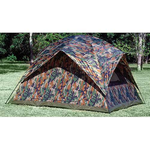 Texsport Headquarters Camouflage 9' x 9' Square Dome Tent, Sleeps 5