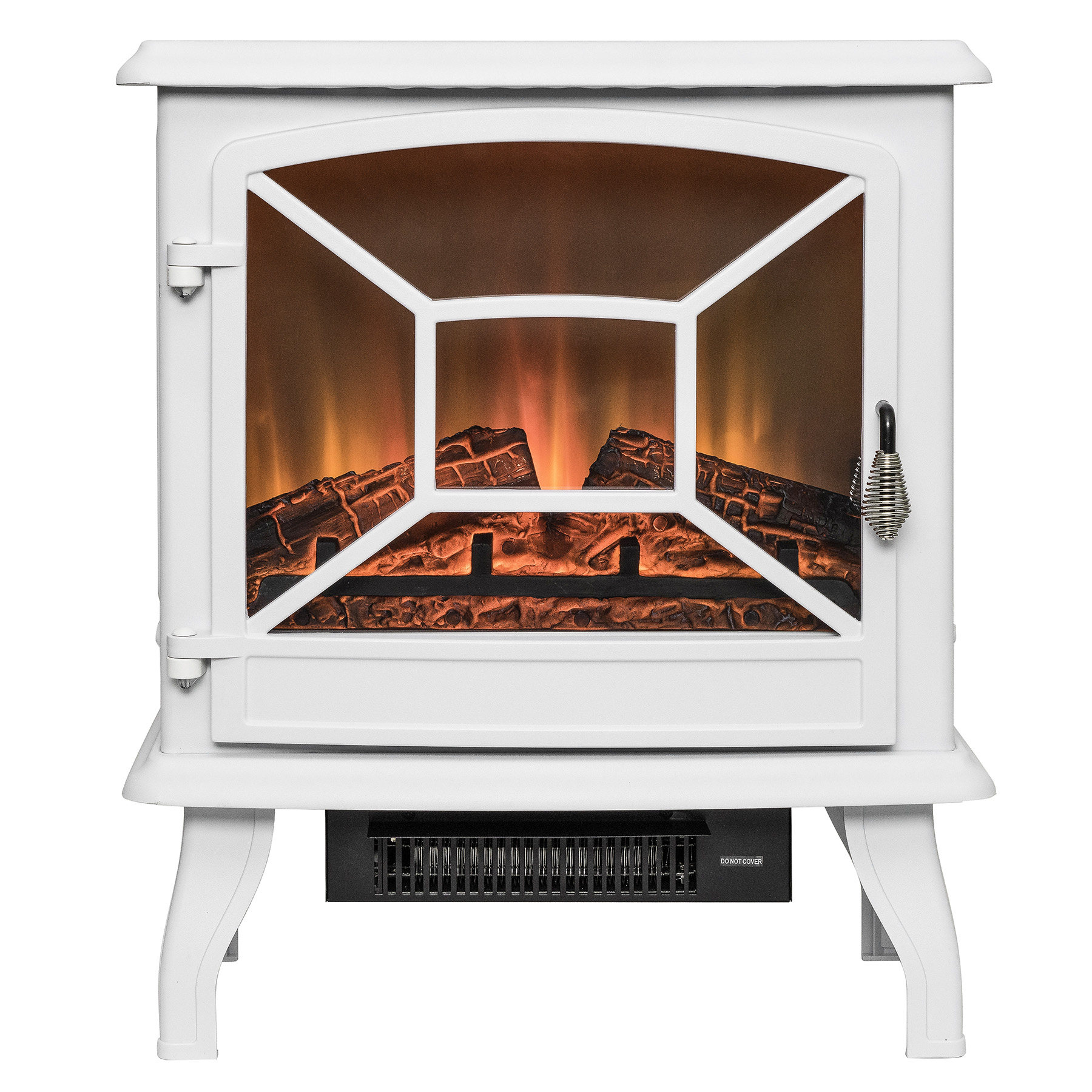 "AKDY FP0083 20"" White Freestanding Portable Electric Fireplace Firebox Heater Flames... by AKDY"