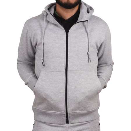 Jordan Craig Solid Full-Zip Fleece Hoodie