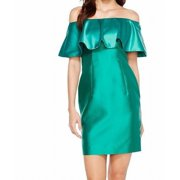 Adrianna Papell NEW Emerald Green Womens Size 8 Ruffle Sheath Dress