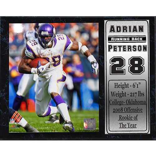 NFL Adrian Peterson Stat Plaque, 12x15