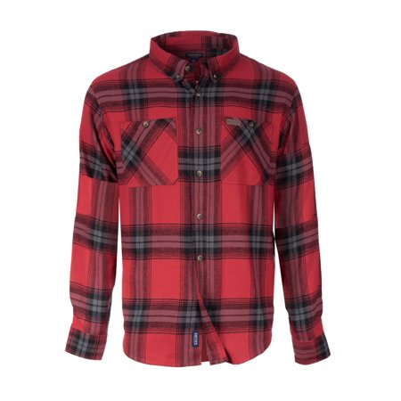 Men's Full Swing Cotton Flannel Button-Down Shirt