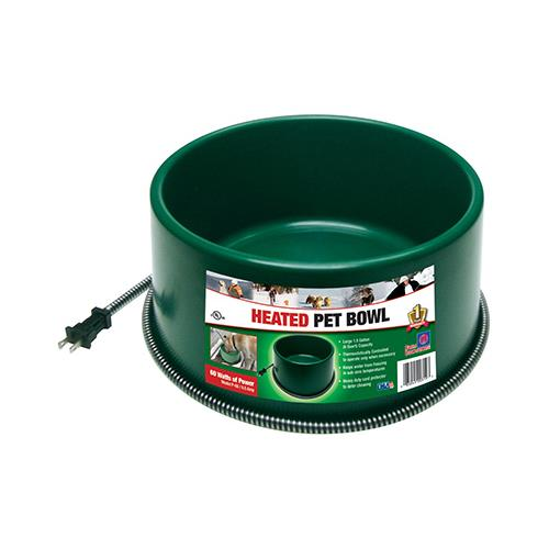 Farm Innovators P-60 Heated Pet Bowl, Thermostat Control, Green, 60-Watt, 1.5-Gals. by Farm Innovators