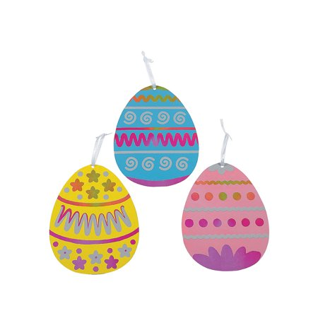 Magic Scratch Jumbo Easter Eggs (1dz) for Easter - Craft Supplies - Magic Scratch - Ornaments - Easter - 12 Pieces