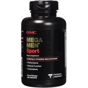 GNC Mega Men Sport Multivitamin for Men, 180 Count, For Performance, Muscle Function, and General Health