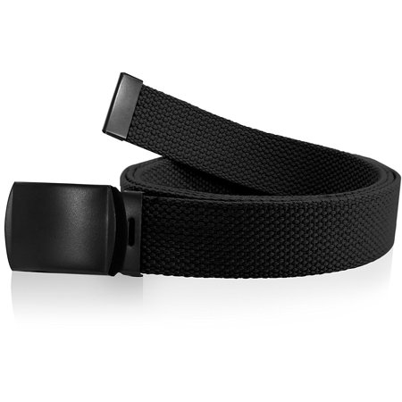 Enimay Kids Canvas Belt Woven Military Roller Buckle Black 30 Inch