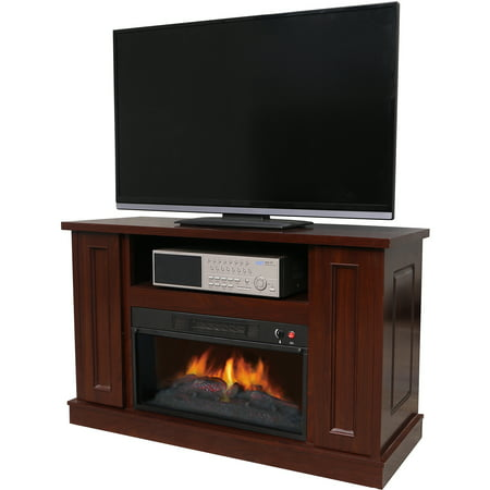 D;cor Flame Holmes 42″ Media Fireplace, for TVs up to 50″, Walnut