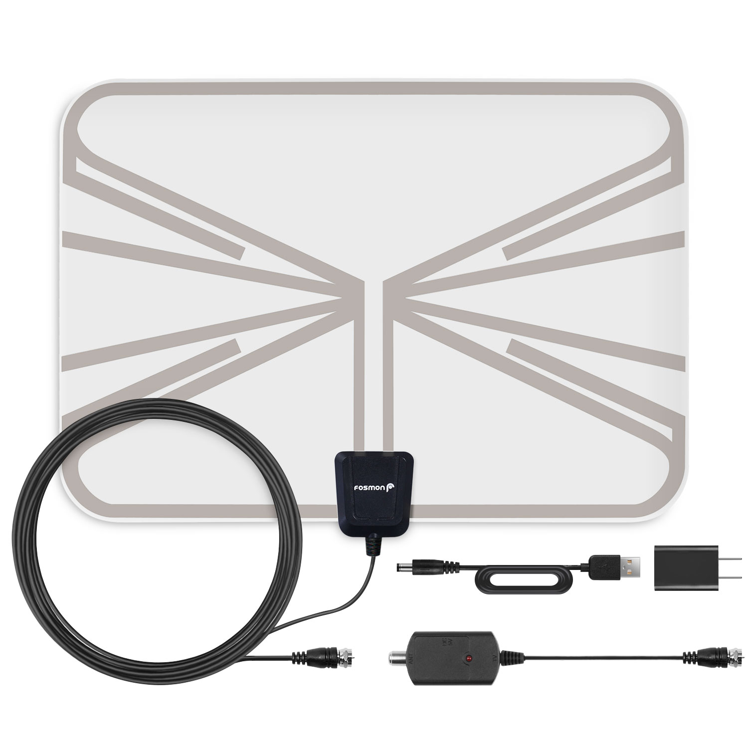 tv antenna walmart. fosmon 60 miles indoor amplified ultra thin transparent hdtv antenna with coaxial iec cable tv walmart