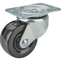ProSource Heavy Duty Swivel Caster 2 In Dia X 1-1/4 In W 125 Lb Rubber