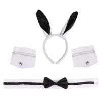 Costume Accessories -Playboy Bunny Ears, Bow Tie,Cuff Bands Set