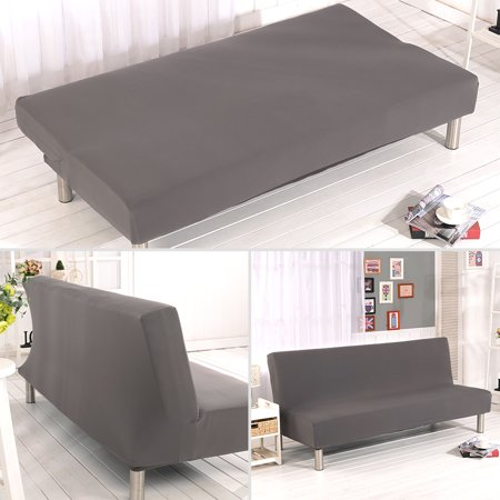 TOPCHANCES Futon Sofa Cover, Slipcover Solid/Muti Color Sofa Bed Covers Full Folding Elastic Armless 80 x 50 inch, Lightweight Stretch Furniture Protector
