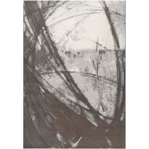 Surya Contempo Gray Swirls Art Work Rug