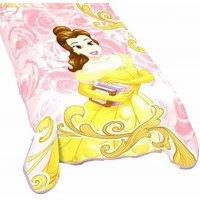 Disney Beauty & The Beast Book Mark Me Plush Belle Twin or Toddler Blanket 62x90