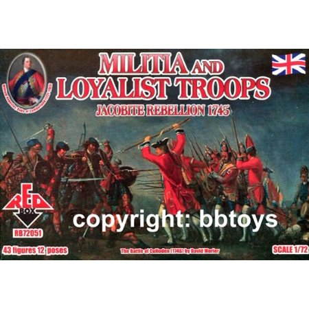 Red Box Figures Jacobite Rebellion 1745: Militia & Loyalist Troops (43-Piece) (1/72-Scale) - image 1 de 1