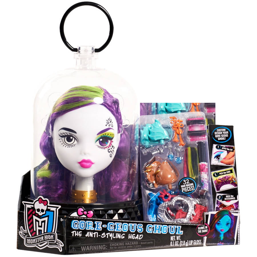 Monster High White Ghoul Styling Head by