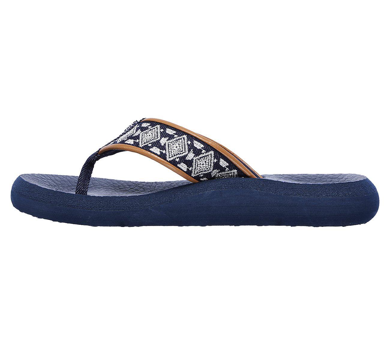 512e8cc28ac8 Skechers - Skechers Women s Asana Beach Bash Flip Flops Sandals Denim Blue  with Yoga Foam - Walmart.com