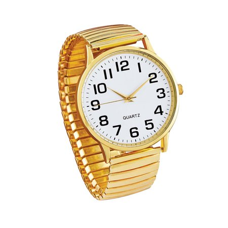 Women's Classic Easy-to-Read Stainless Steel Stretch Watch Made of Stainless Steel, Accessory for Anyone,