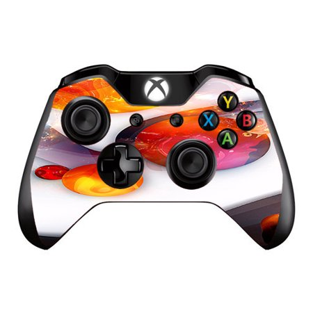 Skins Decals For Xbox One   One S W Grip Guard   Amazing Orange Bubbles
