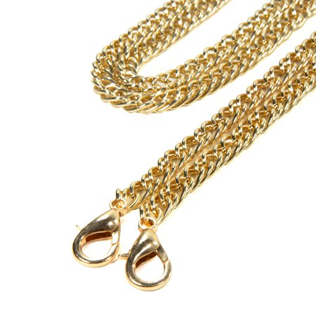 Extra Long Gold Chain (Kroo 46in Long Mini Purse Shoulder Cross Body Handbags Replacement Chain Strap (Yellow Gold))