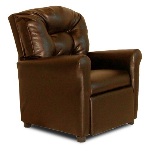 Dozydotes 4-Button Kid Recliner - Pecan Brown