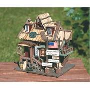 SWM 32187 Wood Wagon Wheel Restaurant Birdhouse Wooden Bird House