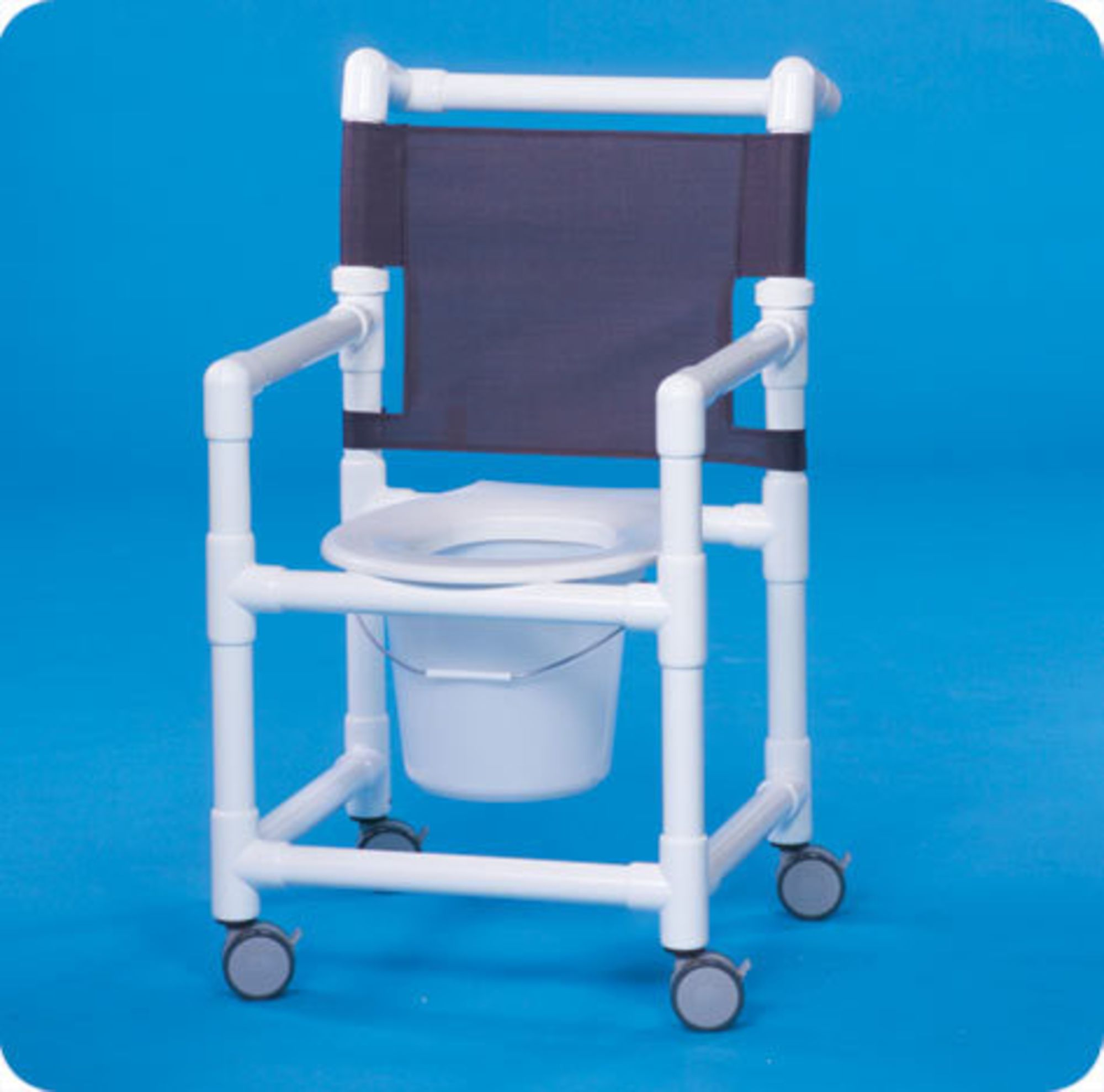 IPU Rolling Shower Commode Chair