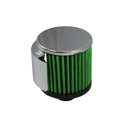 Green Filter Breather Inlet (Push-in Cylinder) w/SS Deflector Shield - OD 1.25in. / H