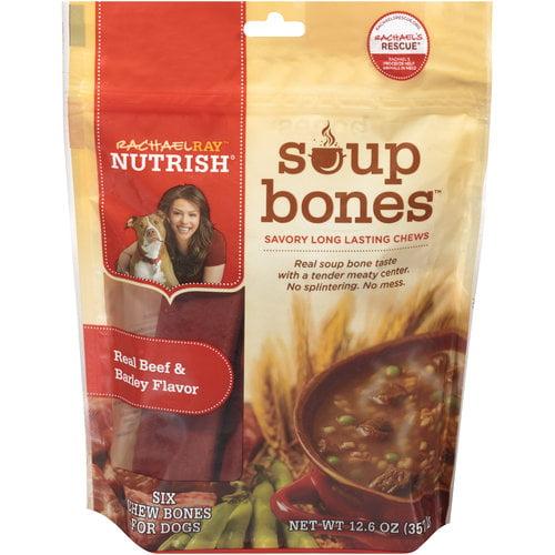 Rachael Ray Nutrish Soup Bones Dog Treats, Beef & Barley Flavor, 12.6oz by AINSWORTH PET NUTRITION