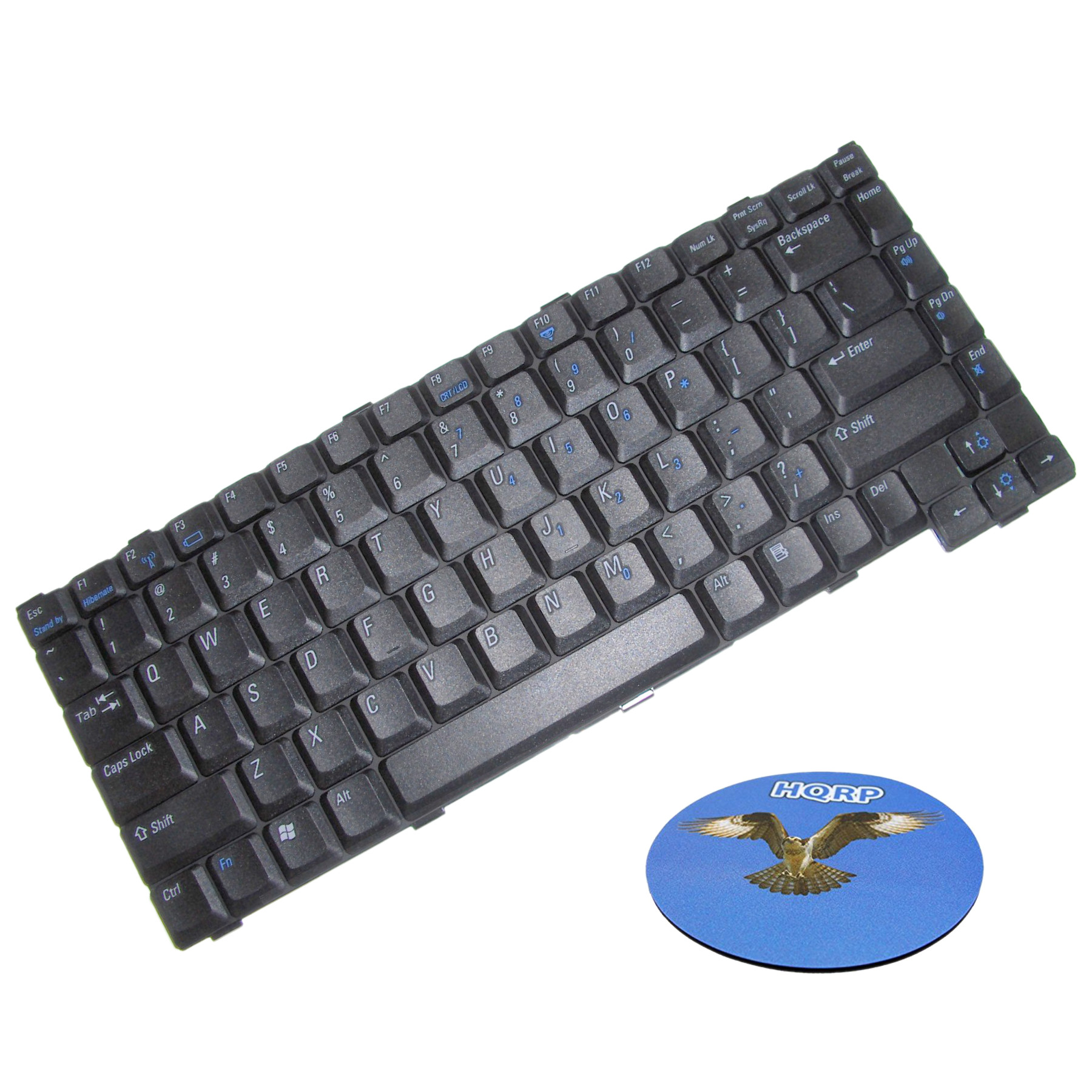 HQRP Keyboard for Dell Inspiron 1200 / 2200 ; Latitude 110L Laptop / Notebook Replacement plus HQRP Coaster