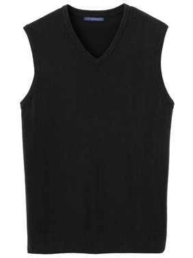 Port Authority Men's Casual Rib Knit V-Neck Sweater Vest
