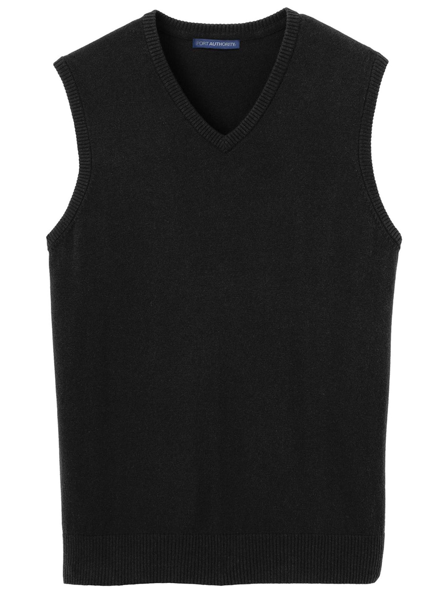 Port Authority Men's Casual Rib Knit V-Neck Sweater Vest