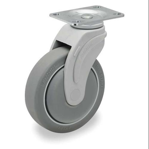 GRAINGER APPROVED Swivel Plate Caster,5 in. Dia.,300 lb., P17S-RP050K-12-001