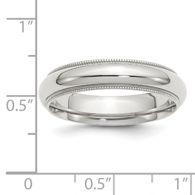 Wedding Bands Classic Bands Milgrain Bands Sterling Silver 5mm Milgrain Comfort Fit Band Size 10
