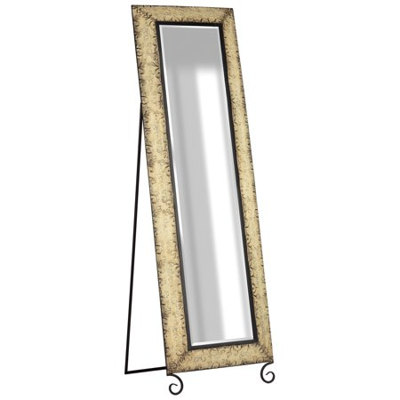 Antique Cheval Mirrors (Antique Bronze Embossed Metal Standing Full Length Mirror 13