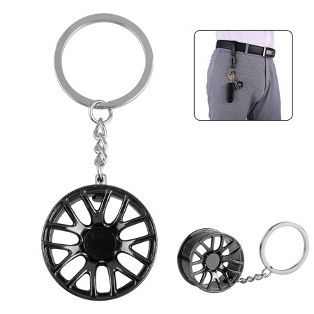 Modern Creative Wheel Hub Rim Model Man's Keychain Car Key Chain Cool Gift Hot