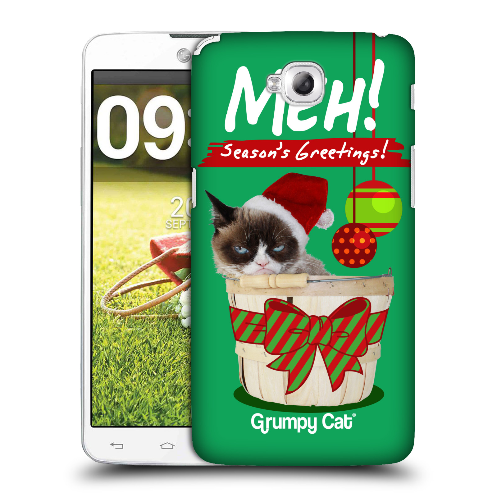 OFFICIAL GRUMPY CAT CHRISTMAS HARD BACK CASE FOR LG PHONES 3